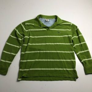 Lacoste Long Sleeve Polo Green Mens Medium